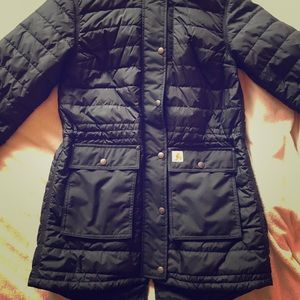Quilted Black Carhartt Water Resistant Jacket
